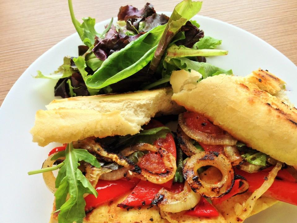 Grilled Tofu and Veggie Sandwich
