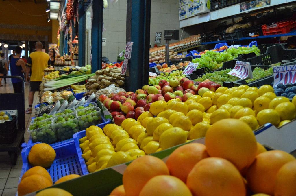 Belvárosi Piac Market fruits and veggies