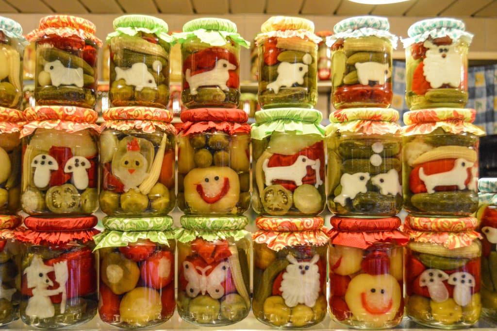 Pickled Hungarian vegetables Belvárosi Piac Market