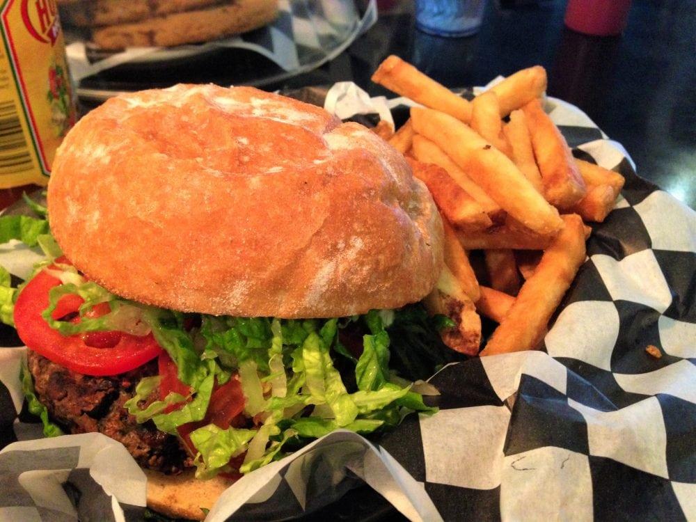 Champs Vegan Burger and Fries
