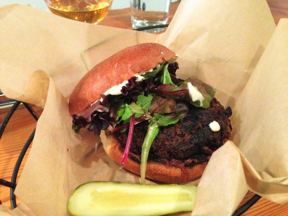 Pickle Shack Vegan Burger