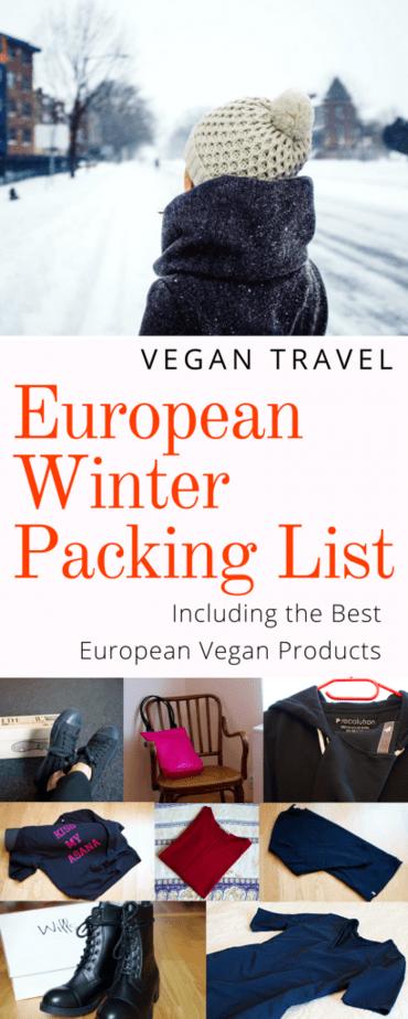 vegan winter packing list