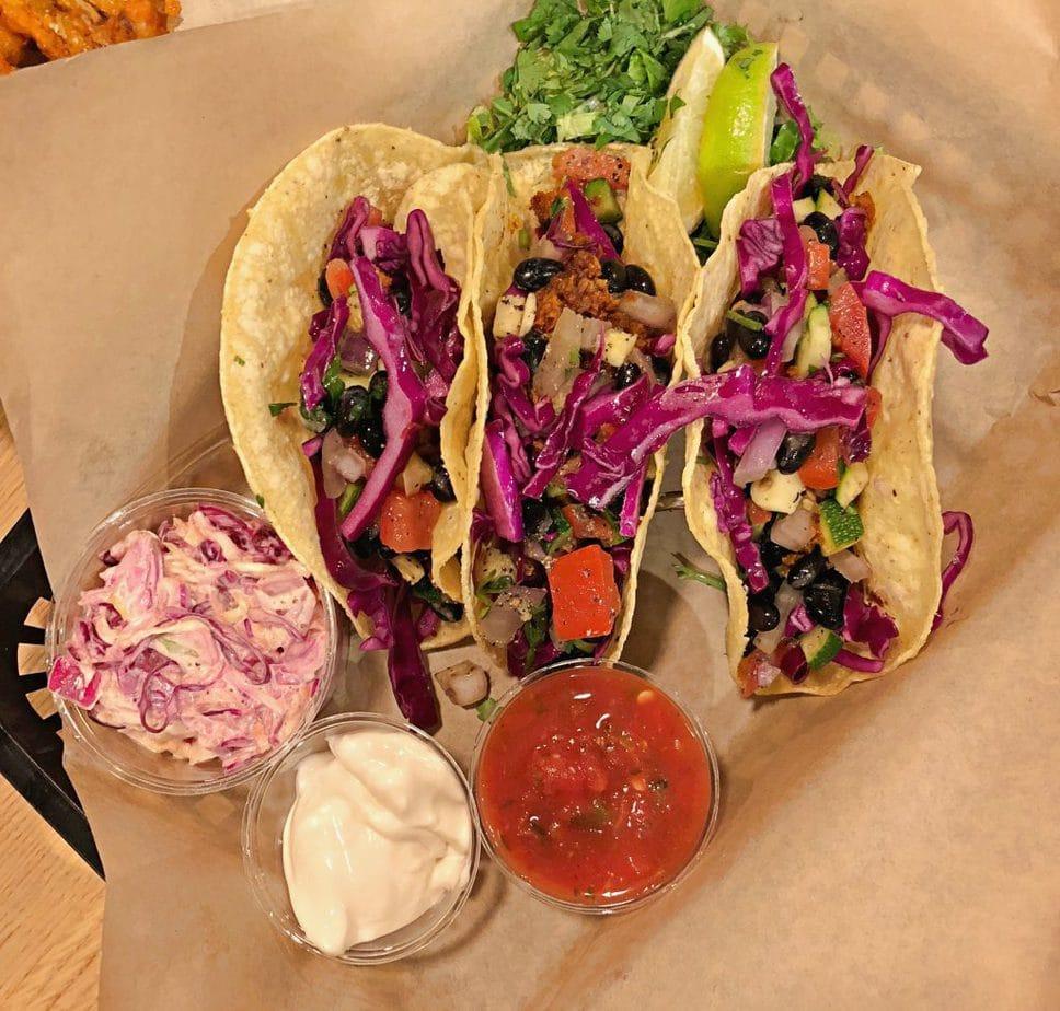 Vegan Tacos at J. Shelbys in Minneapolis - Vegan restaurants in Minneapolis