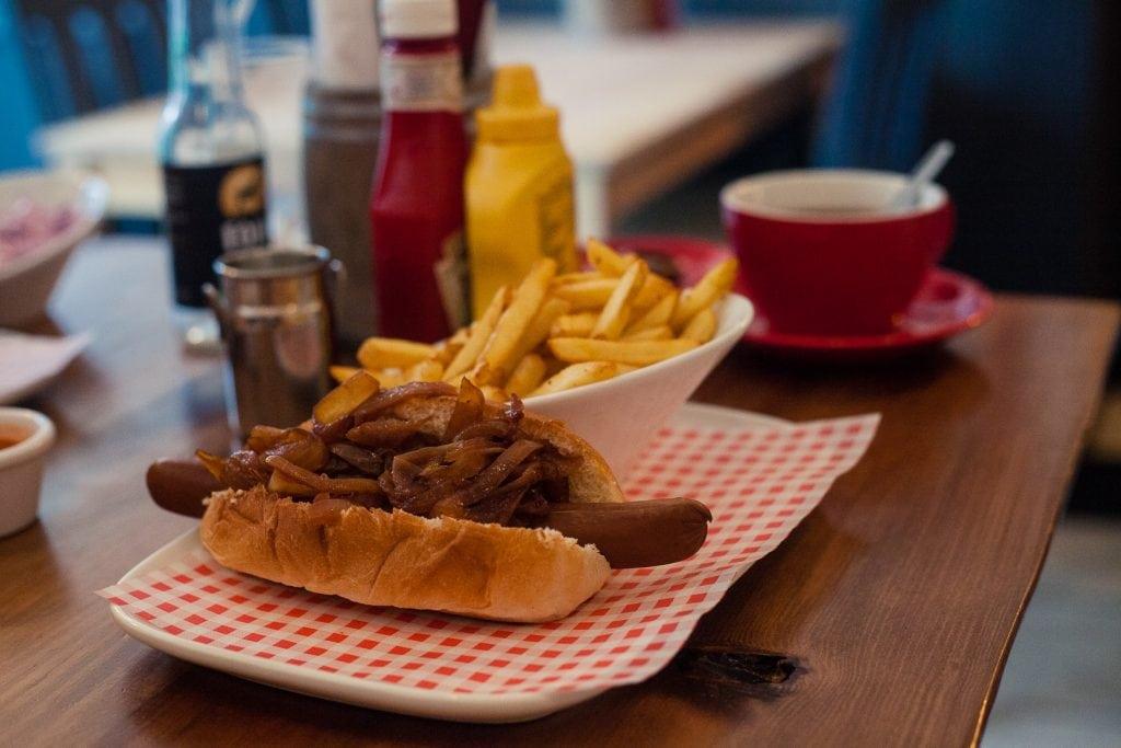 Vegan Hot Dog from bloc+ in Glasgow