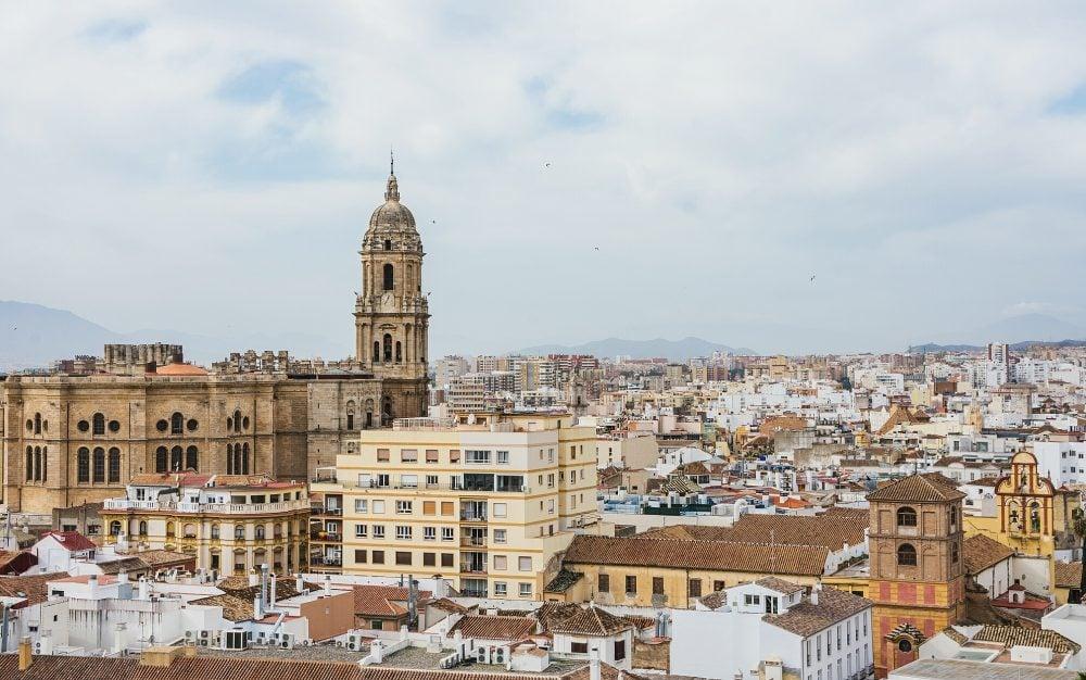 Malaga Spain Skyline