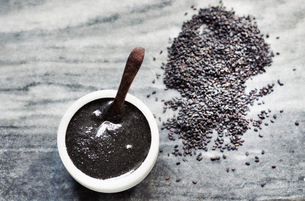 vegan black tahini for the vegan grocery list