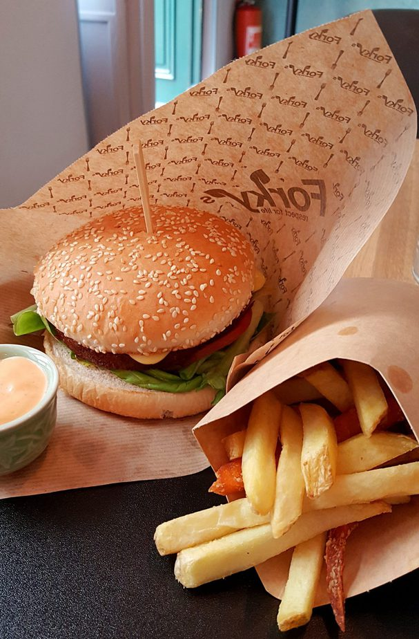 Vegan Burger in Prague at Forkys