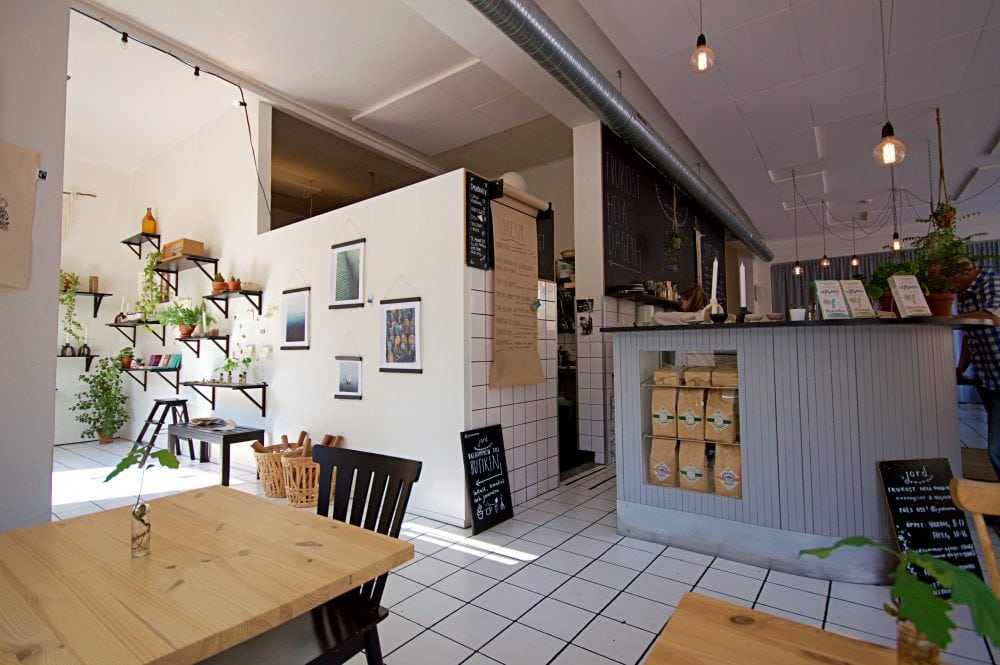 best vegan cafe and shop in Malmo at Jord