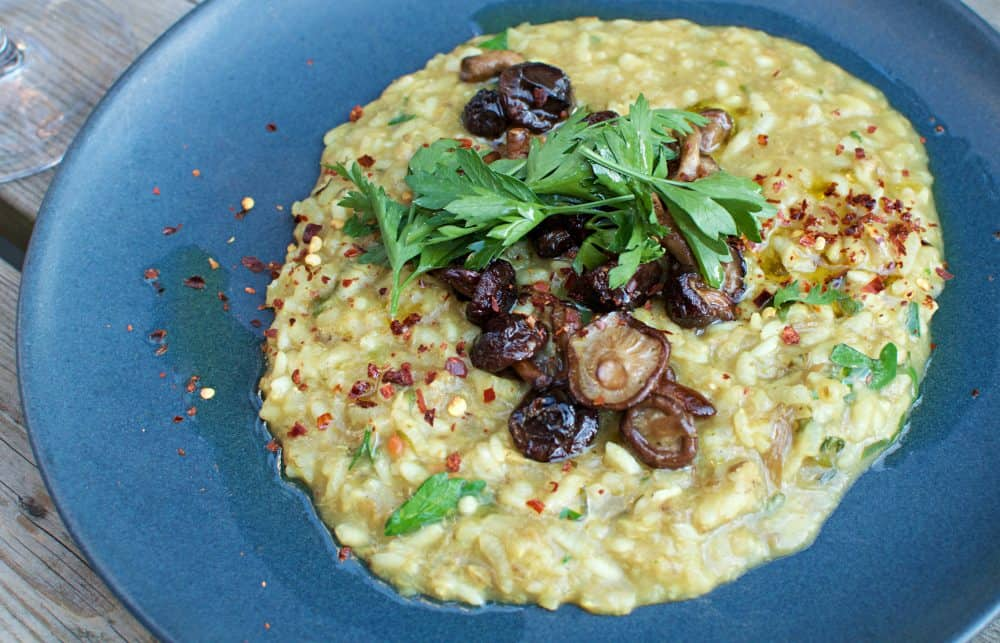 seasonal vegan risotto from Mineral in Malmo