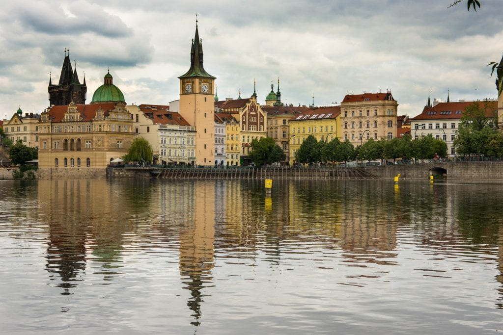 View of Prague from Kampa Island