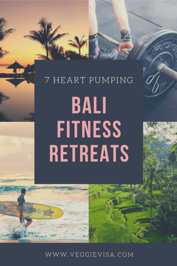 If you're into fitness and travel there is no better place to visit than Bali! Here are 7 heart pumping fitness retreats in Bali, most of which are vegan friendly! #bali #fitnessretreats