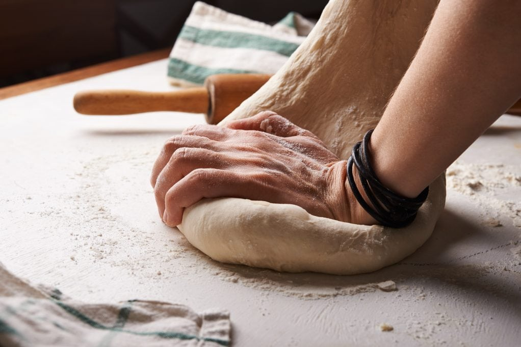 what is gluten - kneeding dough