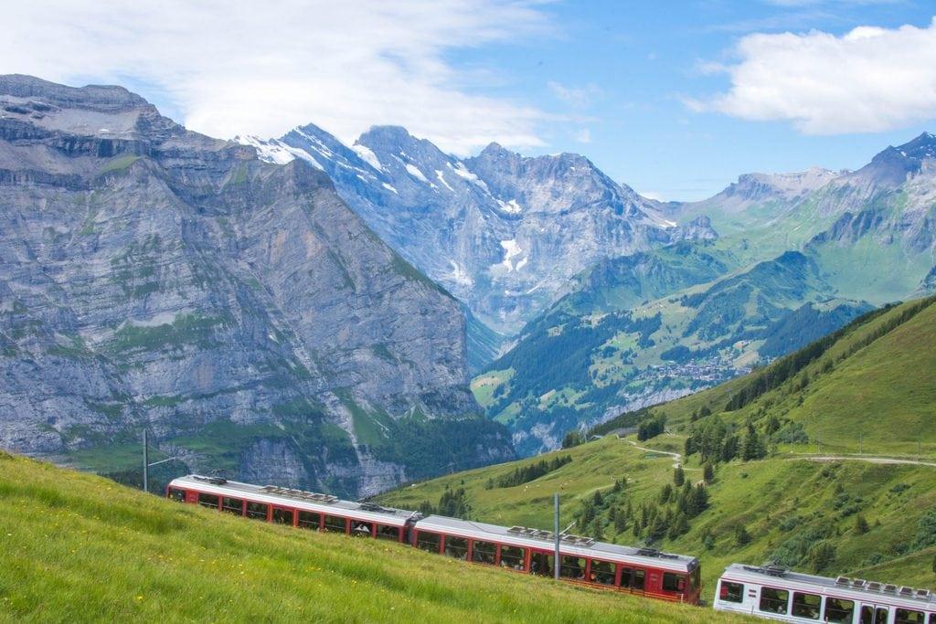 Vegan Cruise Alternatives - Train Travel Switzerland