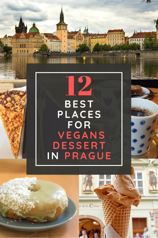 Headed to the Czech Republic and looking for the best vegan dessert in Prague? Want to satisfy your sweet tooth after all the Medieval architecture your eyes will be feasting on? Then this guide is for you. Vegan ice cream, cakes, donuts, and more! #prague