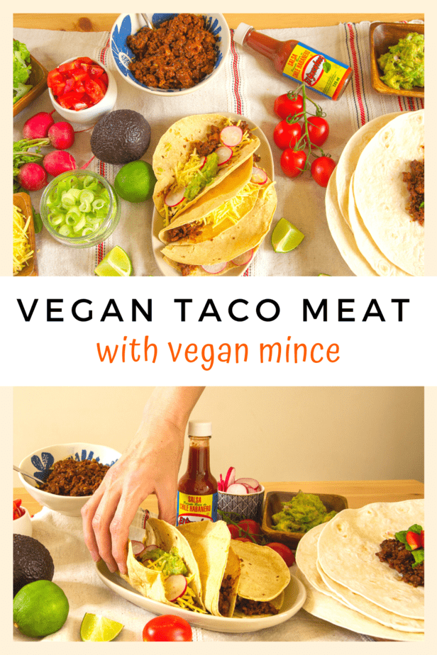 Quick and easy VEGAN TACO MEAT RECIPE & VIDEO using Lidl's Next Level Hack vegan mince meat! This recipe won't have you standing at the stove for hours, but it will result in a vegan taco meat that tastes like you spent all evening making it!
