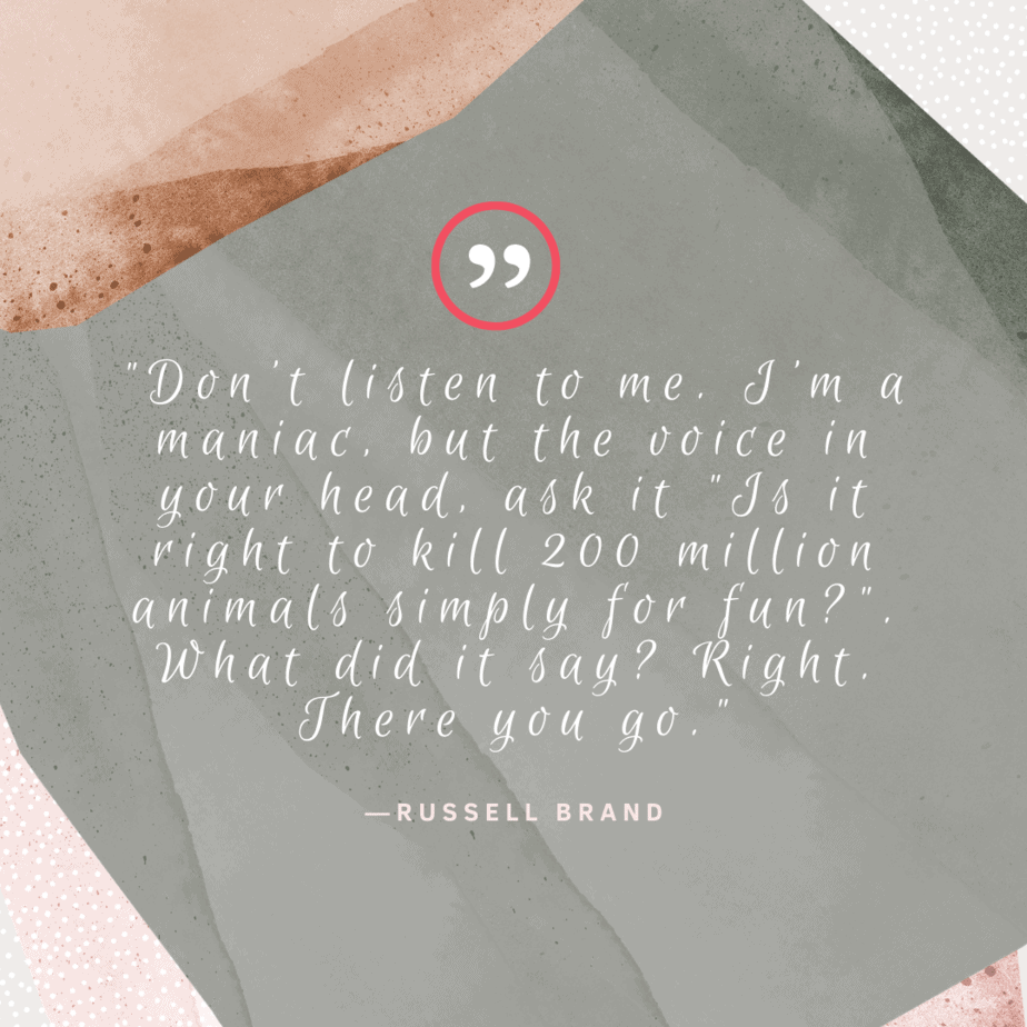 vegan quotes Russell Brand