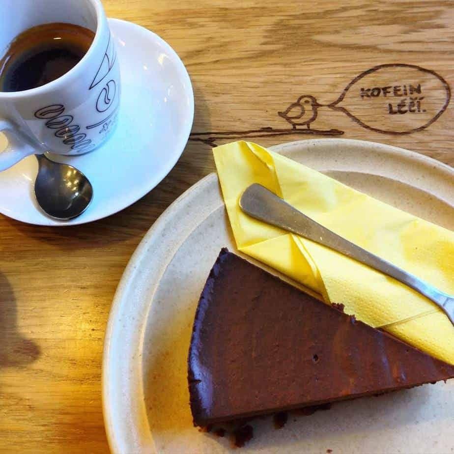 Vegan Chocolate Cake from Moment in Prague