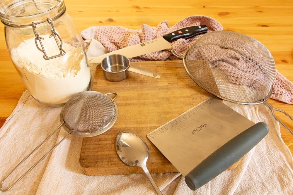 Equipment to Make Vegan Gnocchi Recipe Dough