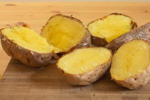 Sliced Baked Potatoes for Vegan Gnocchi Recipe