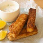 Plated Vegan Fish Sticks