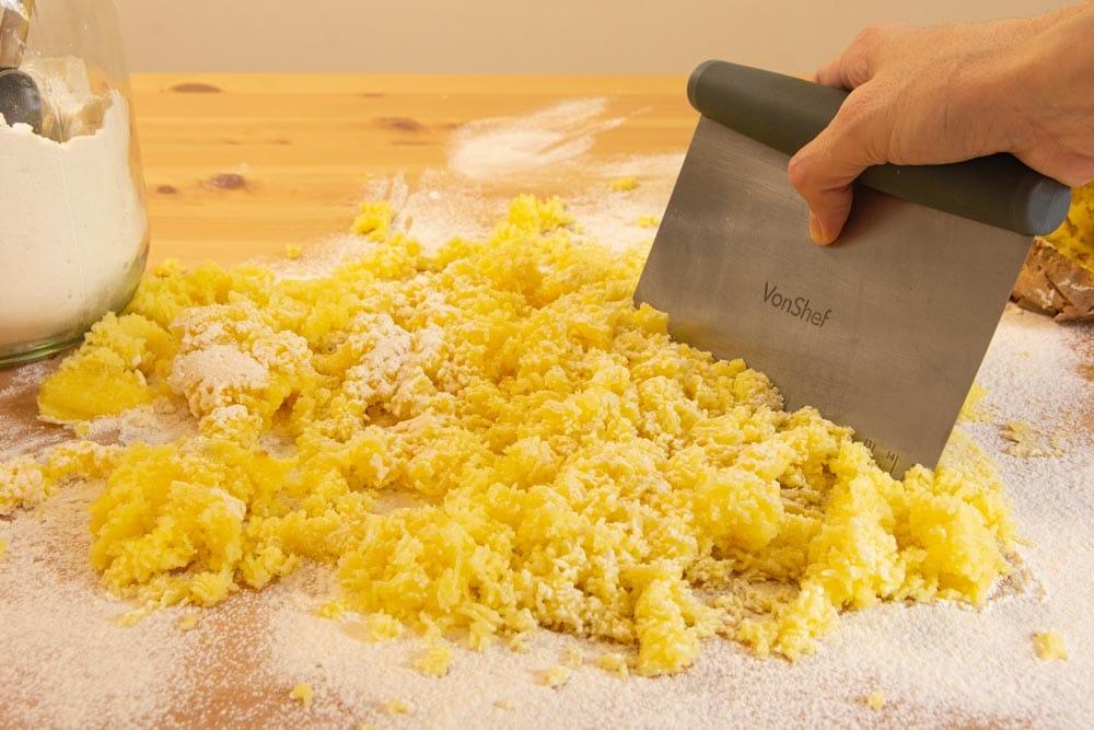 Forming Vegan Gnocchi Dough