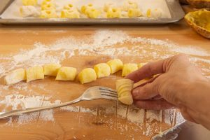 Making Ridges on Gnocchi with a Fork