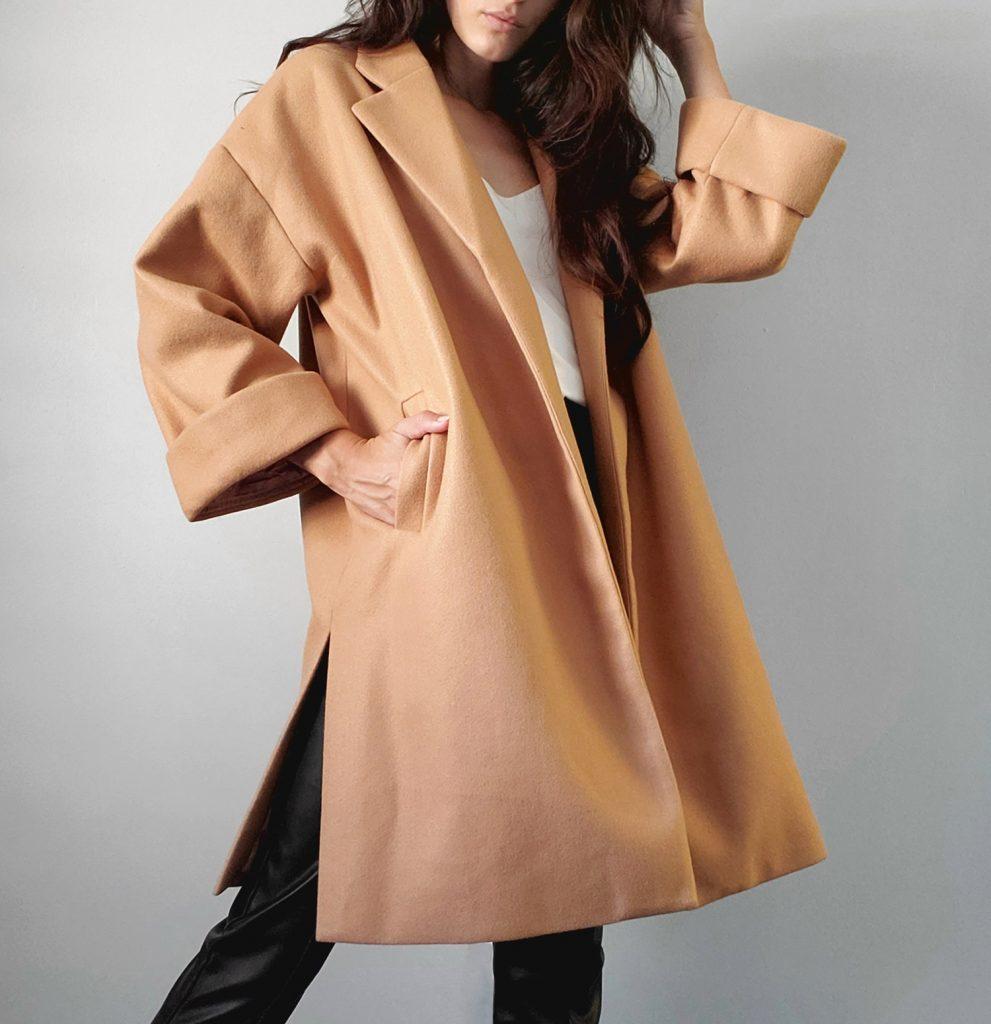 Vegan Jacket from LBLC - Cari Oversized Jacket in Camel